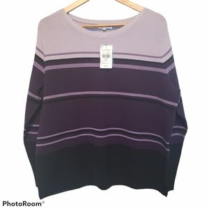 NWT Northern Reflections Striped Sweater XL